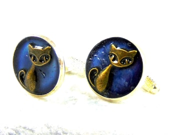 Cufflinks silver plated Chat