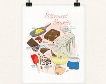 Bittersweet Brownies 8x10