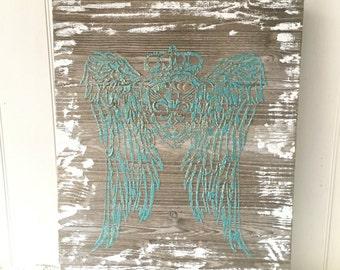 Angel Wings Wall Art angel wing wall art | etsy