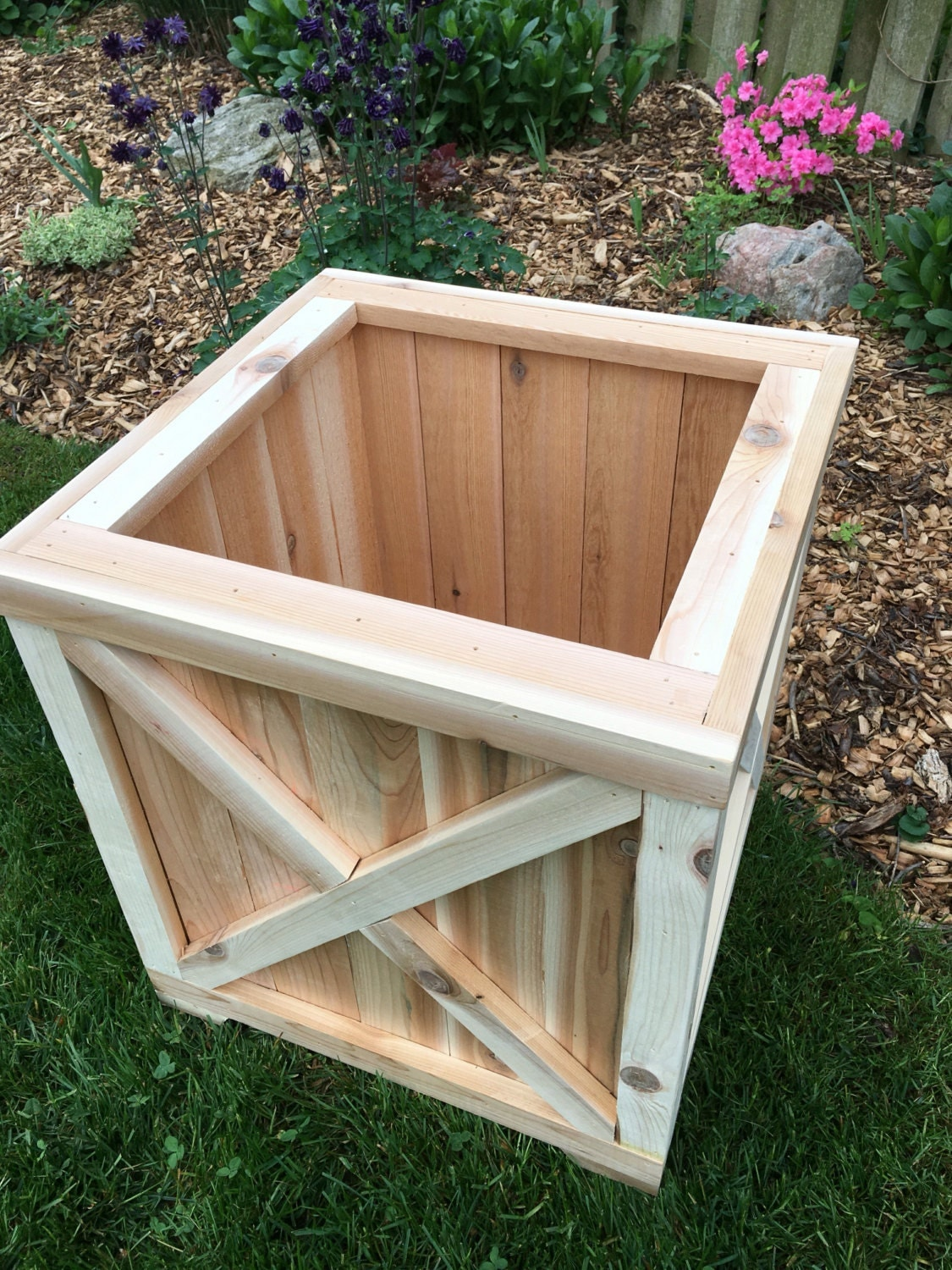 Cedar Planter Box Planter Wood Planter Cedar Box Outdoor Wood