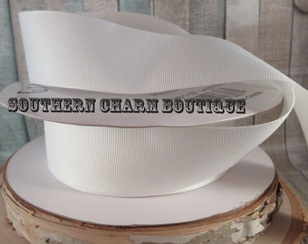 "3 yards of  1 1/2 "" White Grosgrain ribbon"
