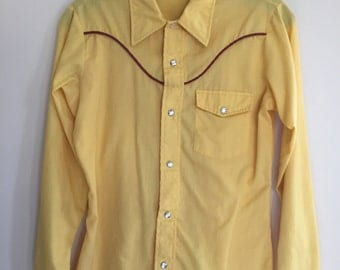 Vintage 70s Western Shirt Small