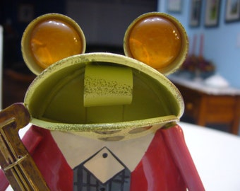 Whimsical Tin Frog with Enamel Paint