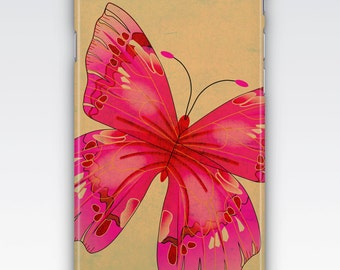 Case for iPhone 8, iPhone 6s,  iPhone 6 Plus,  iPhone 5s,  iPhone SE,  iPhone 5c,  iPhone 7,  Pink Butterfly Design iPhone