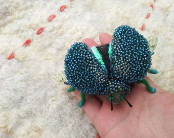 A hand crafted needle Felted Bug.