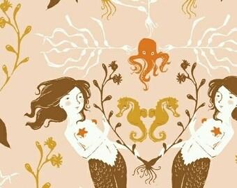 Heather Ross Mendocino for Windham Fabrics - Mermaids in Blush