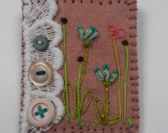 Felt Embroidered Brooch/Pin