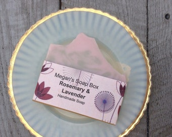 Lavender Rosemary bar soap scented with essential oils