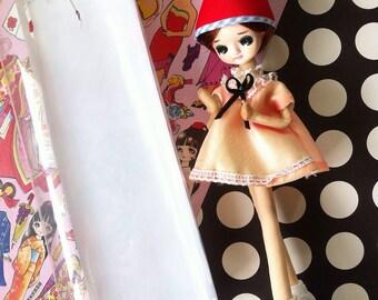 Kawaii vintage Japanese pose doll Pink Rose Girl /Ayumi Uyama style in 60s