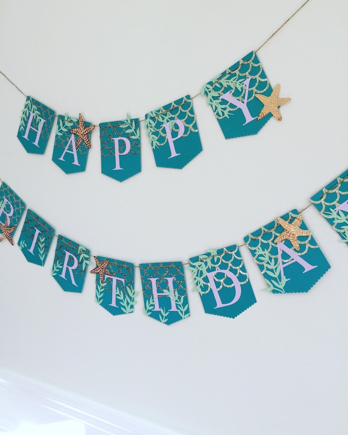 Birthday Banner Mermaid Themed Banner Mermaid Birthday