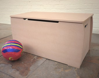 Large MDF toy box personalised or plain