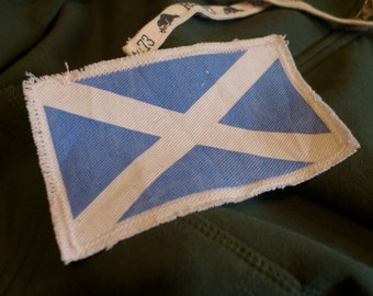 "6"" Retro Vintage SCOTTISH Flag Patch - Make new clothes look vintage or breath new life into old clothing."