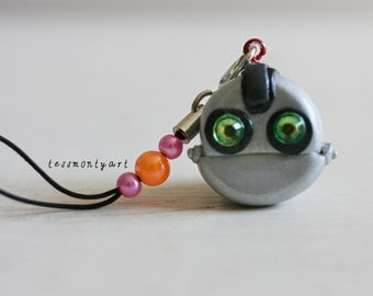 Ratchet and Clank 'Clank' polymer clay charm