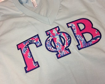 Gamma Phi Beta Lilly V-Neck T-Shirt in Size XS to XL