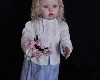 Reborn Vinyl Doll KIT Baby TIBBY Standing Toddler by Donna Rubert Realistic 5626