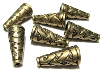 10pcs Antique Bronze Cone Bead Caps End Caps Tassel Caps Kumihimo Caps