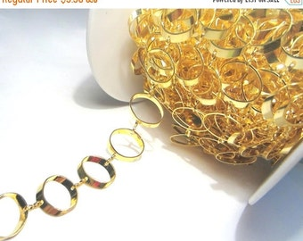 Closeout Sale 50% OFF 3.5ft Handmade Gold Plated Links Chains 11mm Oval Chains(lo1)