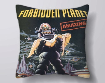 Forbidden Planet Movie -Cushion Cover Case Or Stuffed With Insert