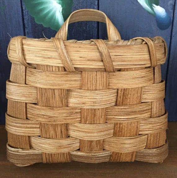 Flower Baskets Usa : Handmade basket small pocket flower wall
