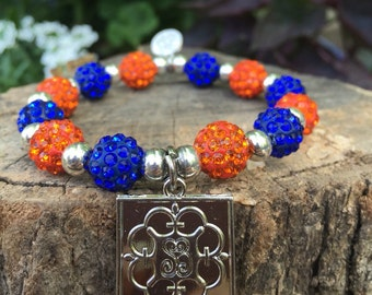 SALE***Orange/blue Shelby bracelet