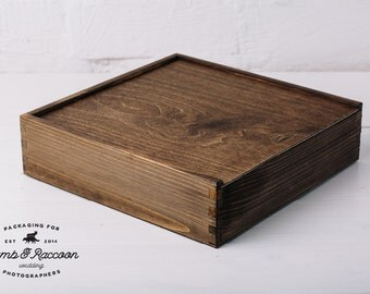 Wooden 10x10 album box | Packaging For Wedding Photographers | Color - Walnut Brown