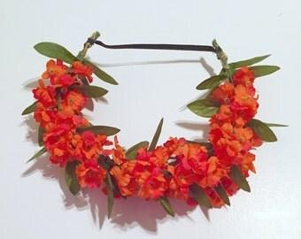 Flower Crown - Orange
