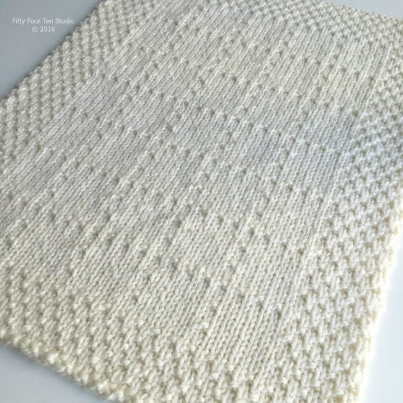 KNITTING PATTERN / Brookside Blanket / Throw / Knit / Gift ...