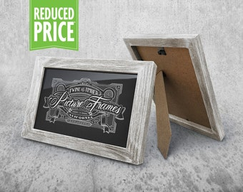 Rustic Picture Frame - Antique White