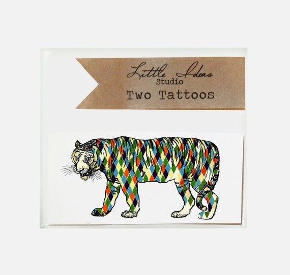 Tiger Tattoo. Temporary Tattoo.