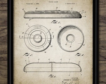 Frisbee Patent Print - 1967 Frisbee Design - Flying Disc Patent - Frisbee Invention - Frisbee Decor - Single Print #2037 - INSTANT DOWNLOAD