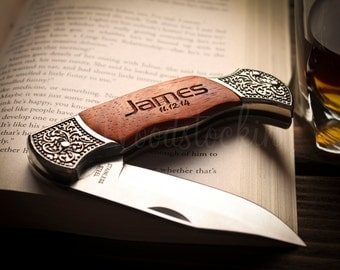 Personalized Gifts Pocket Knife Groomsmen Knife anniversary gifts for men birthday gifts for him anniversary gifts for boyfriend Gift