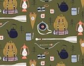Camping Supplies Fabric Fat Quarter, Half Yard, or By-The-Yard; SRR598; Novelty Fabric; Dear Stella | Rae Ritchie; Trail Mix