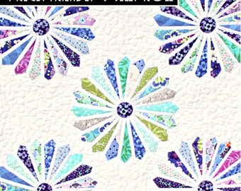 Pattern - In Full Bloom Baby Quilt by Frivolous Necessity Paper Pattern Instructions