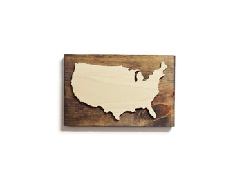 Us Map Wall Art usa map wall art | etsy