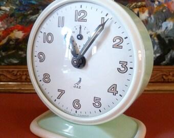 Vintage French JAZ Mid Century Modern Alarm Clock 1950's Fabulous condition