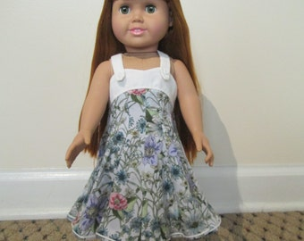 Floral Sundress for 18 Inch Doll