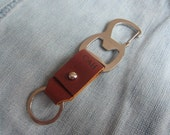 Bottle Opener Keychain,Leather Keychain,Custom engraved Key Chain, Engraved Leather Keychain,Leather Gift, Wedding gift