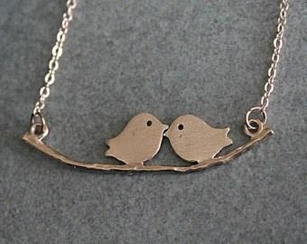 Small Bird Necklace, Rose Gold Bird Necklace, Bird Necklace, Rose Gold Bird Pendant, Dainty Bird Necklace, Rose Gold Minimalist Necklace