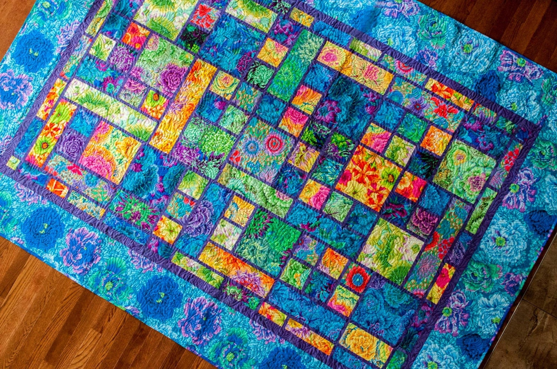 Garden Plot Quilt Kit With Kaffe Fassett Fabric Varies Sizes