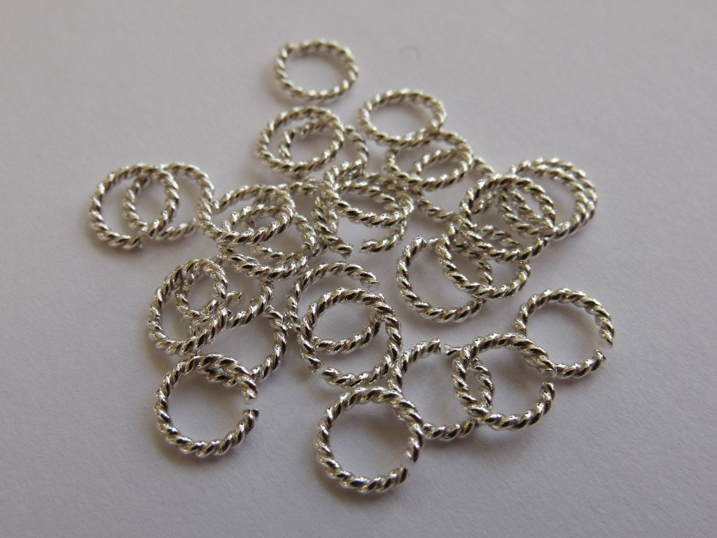 50 x 20g 0 81mm twisted argentium silver open jump rings