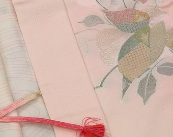 Japanese Kimono / Vintage Silk Haori Jacket / Kimono Cardigan / Short Robe / 062403
