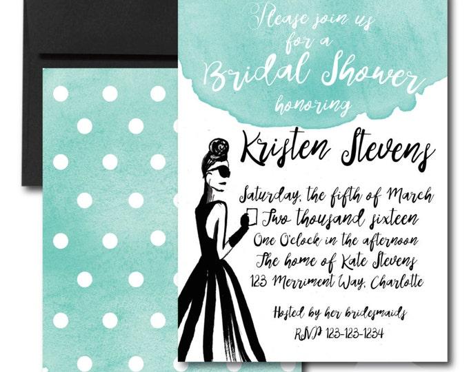 Bridal Shower Invitation // Breakfast // Blue // Watercolor // Calligraphy // Illustration // MANHATTAN COLLECTION