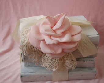 SALE**Shabby Chic Antique Book Stack