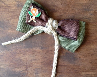 Disney Orange Bird, Adventureland, inspired hair bow