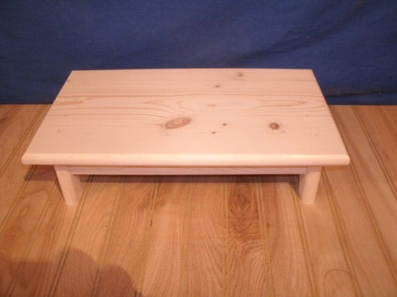 Wood Step Stool Wooden Step Stool 4 Unfinished Pine