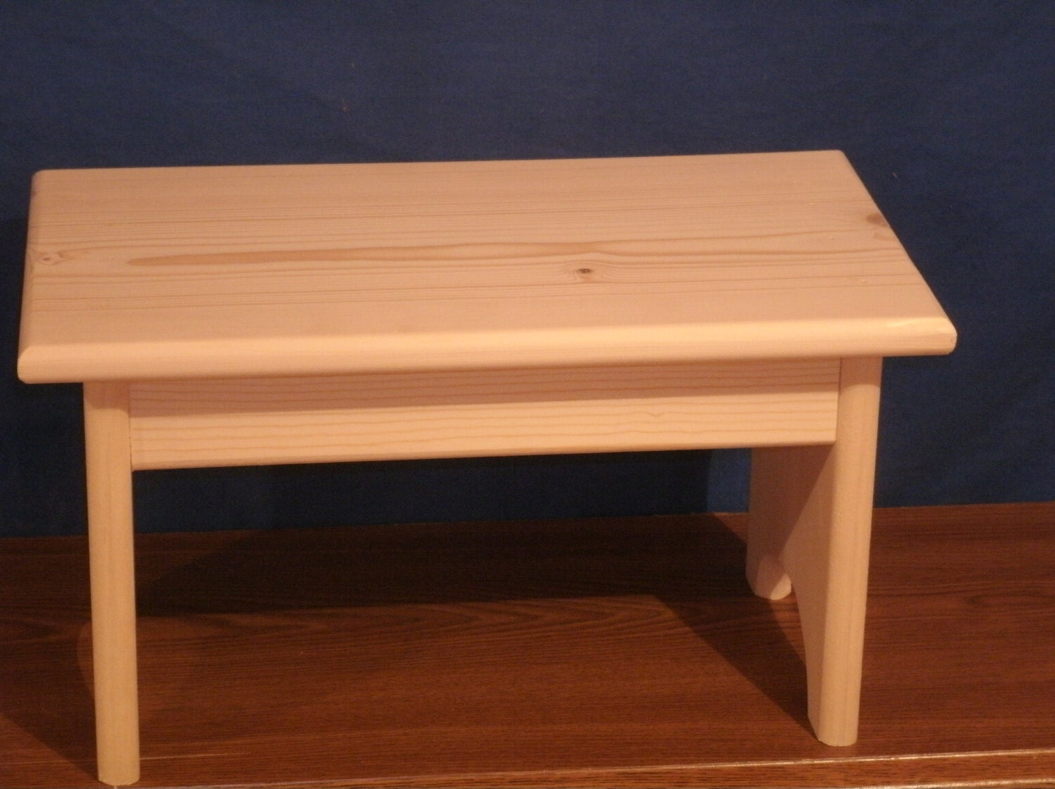 Wood Step Stool Wooden Stoolrustic Wooden Stool Unfinished
