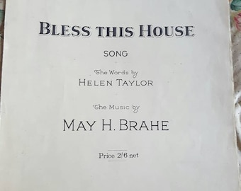 Sale ~ Boosey &Hawkes ~ BLESS THIS HOUSE ~ Sheet Music ~ 1927