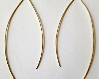Wishbone Threader hoops 14k goldfilled or sterling silver