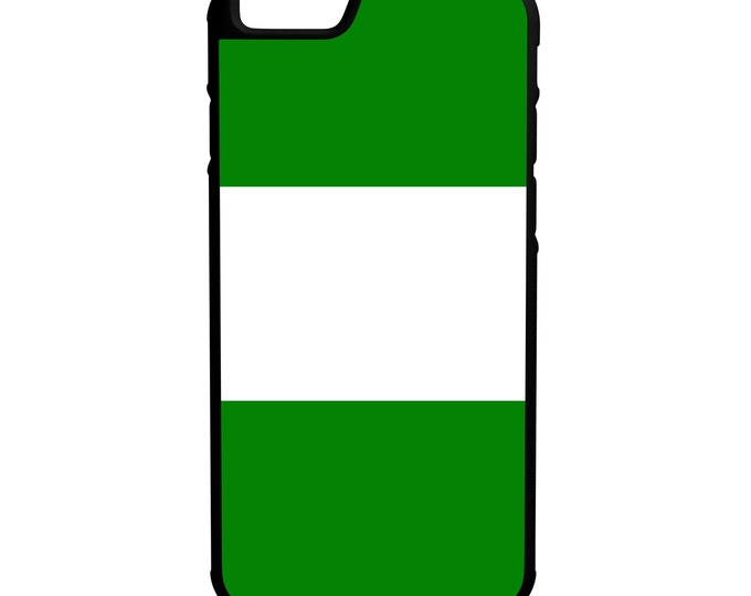 """Nigeria Flag iPhone 4/4s 5/5s 5c 6/6s 4.7"""" 6/6s Plus 5.5"""" Galaxy S4 S5 S6 Note 3 4 5 LG G4 Hybrid Rubber Protective Case"""