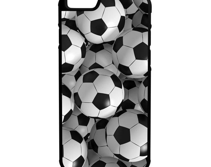 Soccer Futbol iPhone Galaxy Note LG HTC Protective Hybrid Rubber Hard Plastic Snap on Case Black